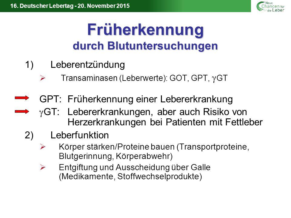 16.Deutscher Lebertag - 20. November 2015 Werden Sie Organspender .