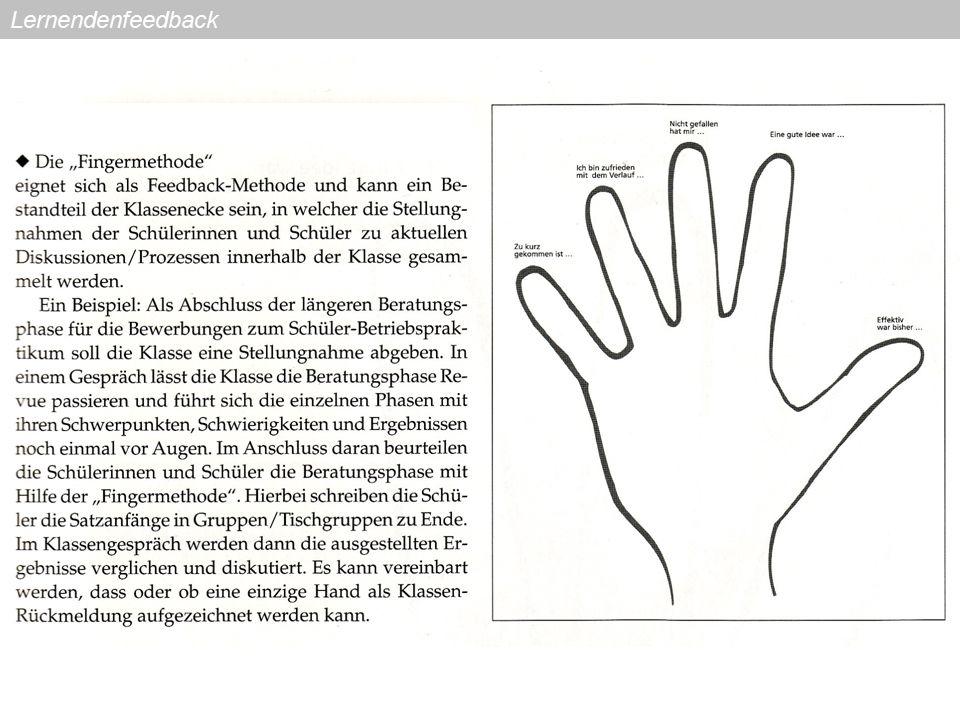 Daten erheben Quelle:Bastian, J.,Combe, A.,Langer, R.: Feedbackmethoden.