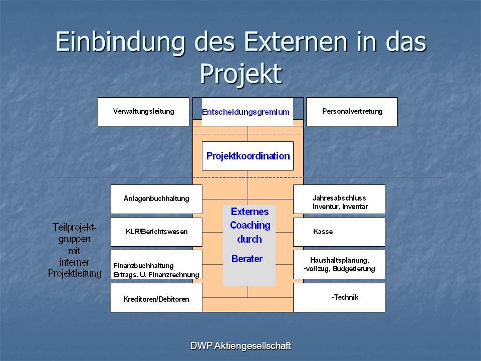 DWP Aktiengesellschaft Einbindung des Externen in das Projekt