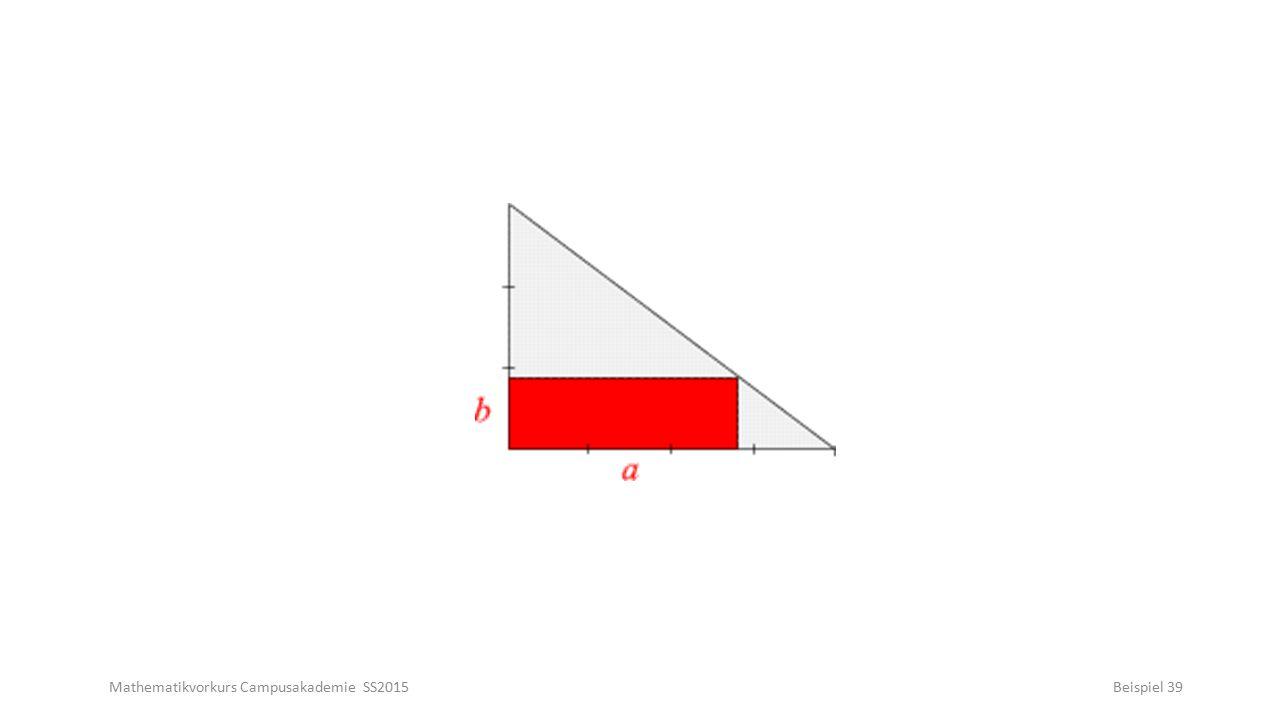 Mathematikvorkurs Campusakademie SS2015Beispiel 39