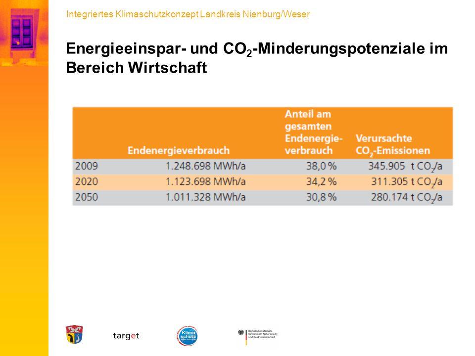 Integriertes Klimaschutzkonzept Landkreis Nienburg/Weser Energieeinspar- und CO 2 -Minderungspotenziale im Bereich Wirtschaft