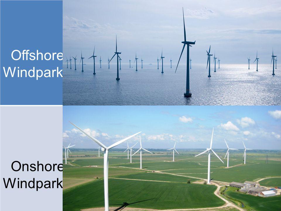 Offshore- Windpark Onshore- Windpark