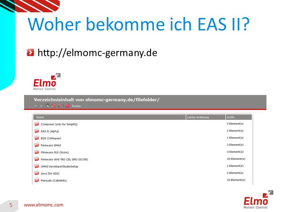 http://elmomc-germany.de Woher bekomme ich EAS II 5