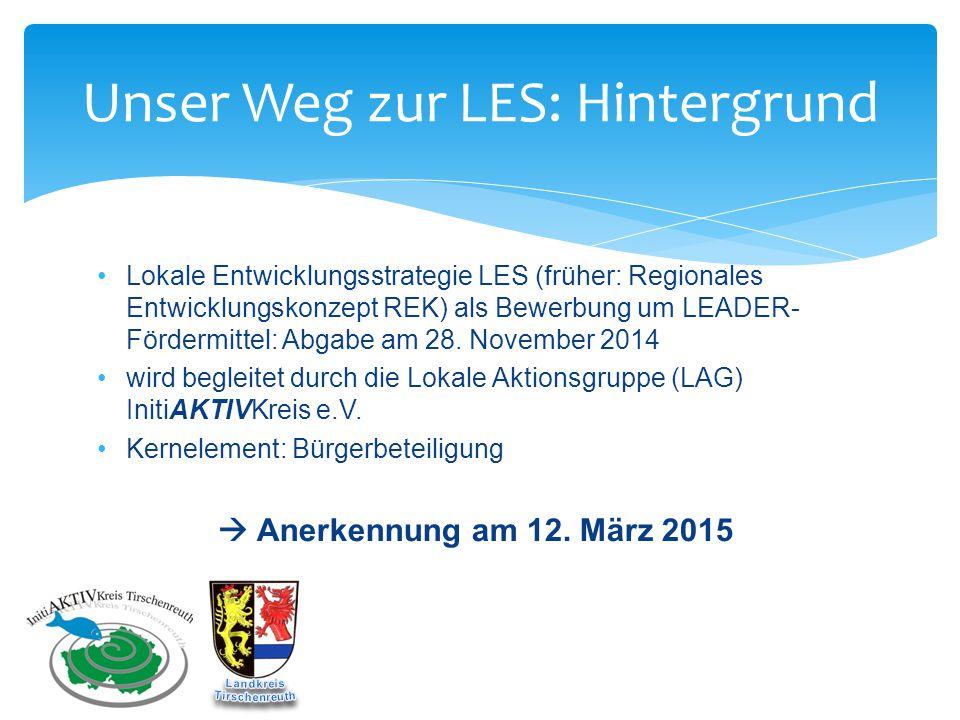 Unser Weg zur LES: Was bringt uns LEADER.Projektanträge ab Mitte 2015 ca.