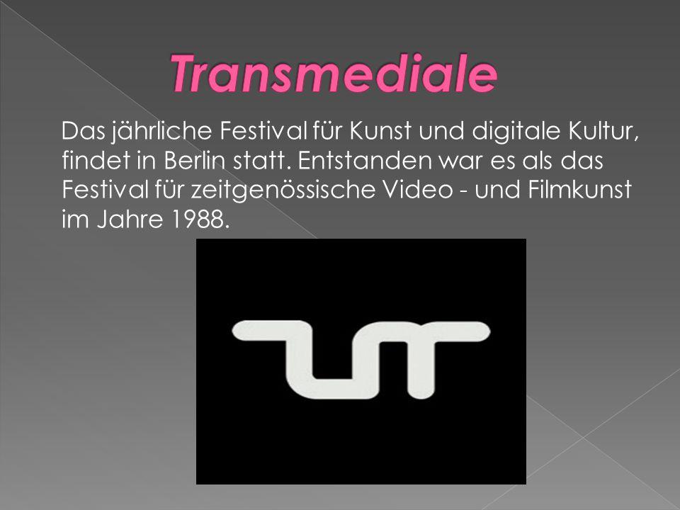 Das jährliche Festival für Kunst und digitale Kultur, findet in Berlin statt.