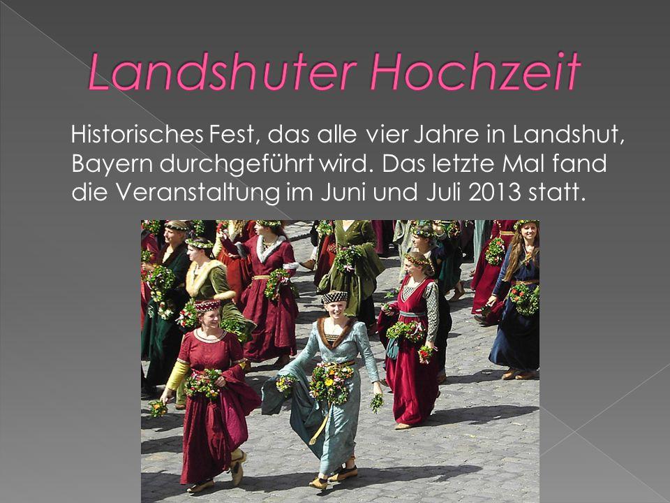 Historisches Fest, das alle vier Jahre in Landshut, Bayern durchgeführt wird.