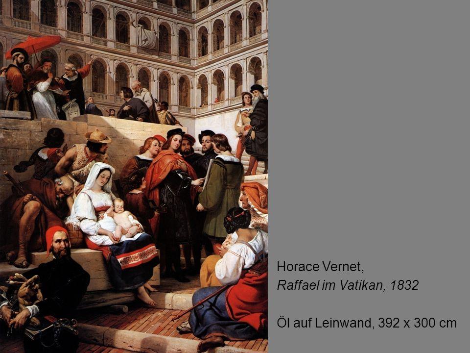 Detail: Gerüst mit Plane Horace Vernet, Raffael im Vatikan 1832