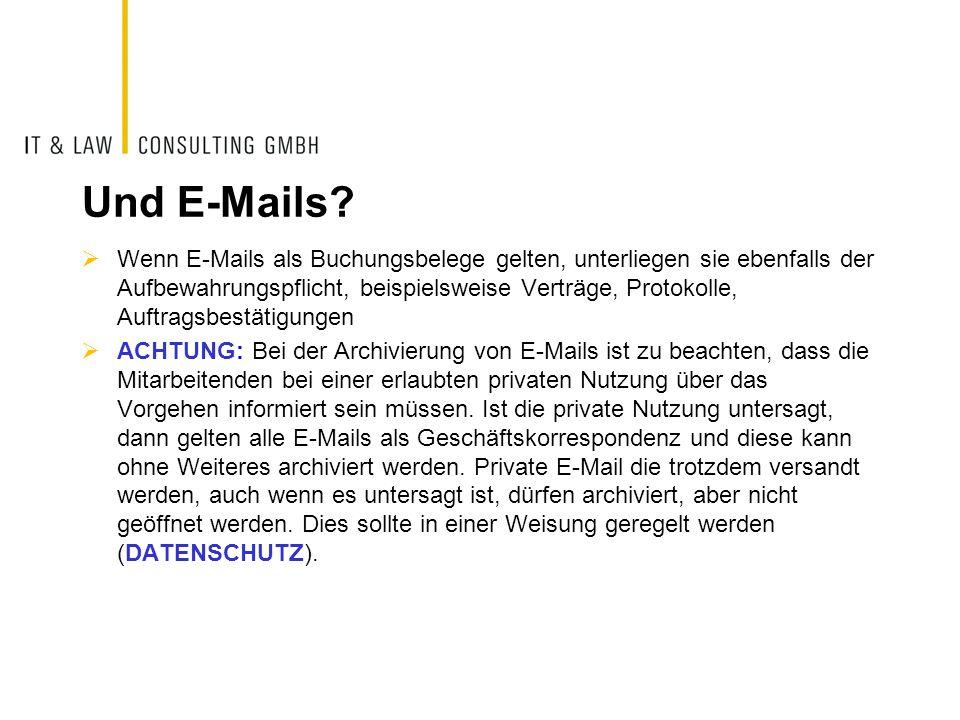 Und E-Mails.