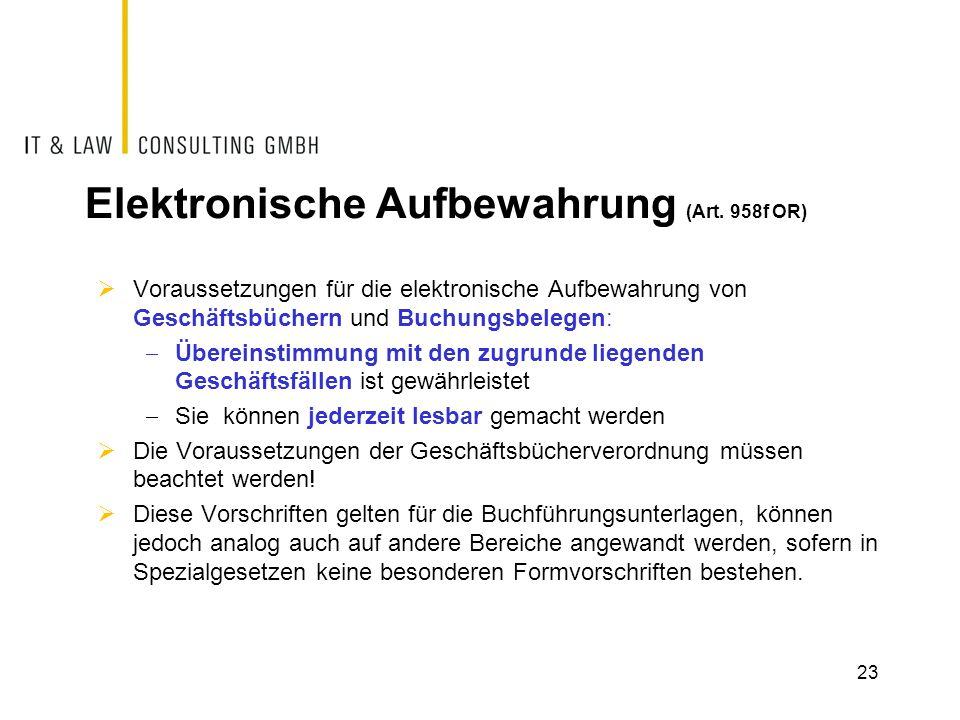 Elektronische Aufbewahrung (Art.