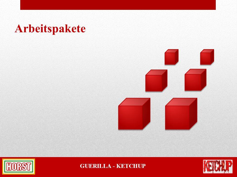 GUERILLA - KETCHUP Arbeitspakete