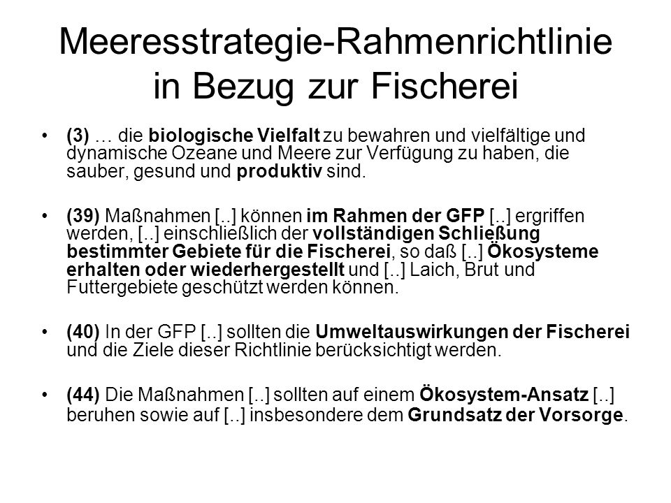 Kritik der GFP Rainer Froese, IFM-GEOMAR
