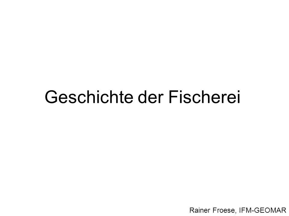 Geschichte der Fischerei Rainer Froese, IFM-GEOMAR