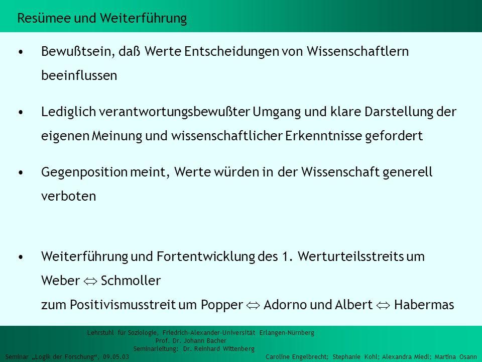 Lehrstuhl für Soziologie, Friedrich-Alexander-Universität Erlangen-Nürnberg Prof.