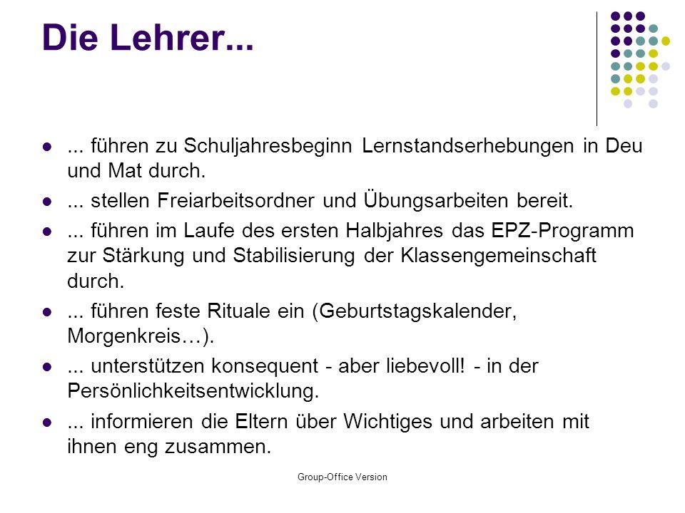 Group-Office Version Die Schüler...