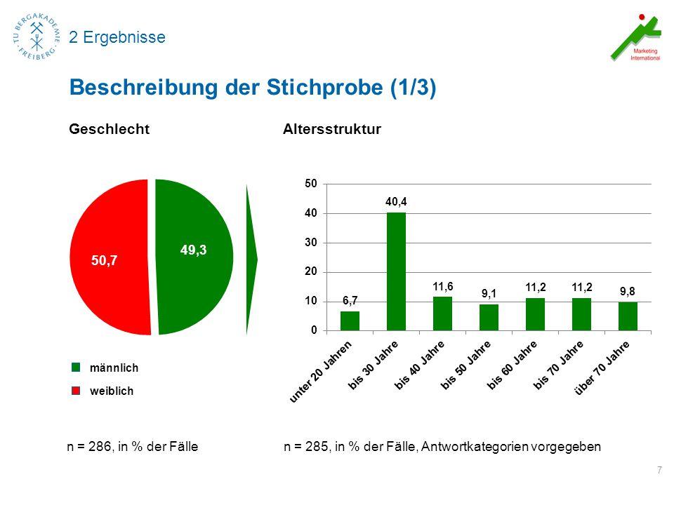 3 Ergebnisse Klassifikation der Stichprobe nach Landkreisen 8 Beschreibung der Stichprobe (4/4) n = 161, in % der Fälle, offene Frage