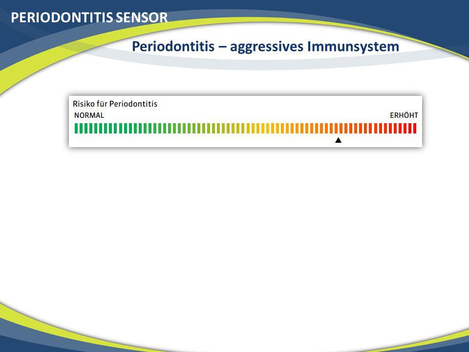 PERIODONTITIS SENSOR Periodontitis – aggressives Immunsystem