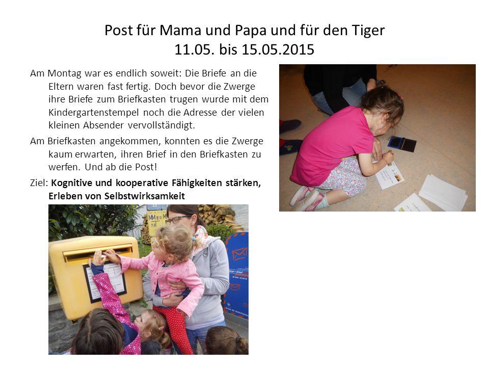 Post für Mama und Papa und für den Tiger - Seite 2 Dienstags besuchten die Zwerge ein Bilderbuchkino im Motorikraum.