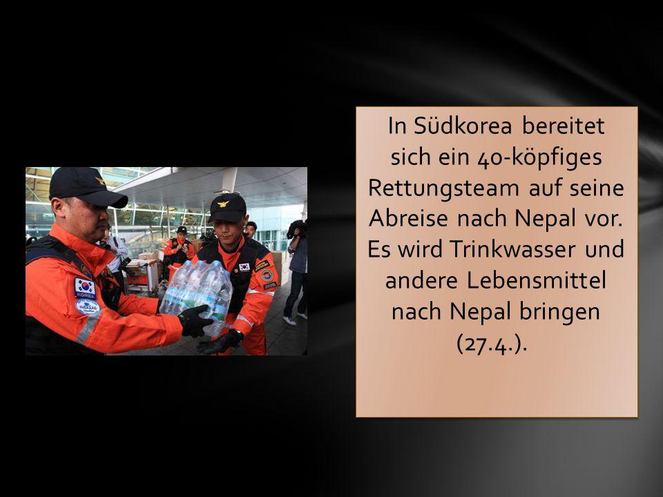In Südkorea bereitet sich ein 40-köpfiges Rettungsteam auf seine Abreise nach Nepal vor.