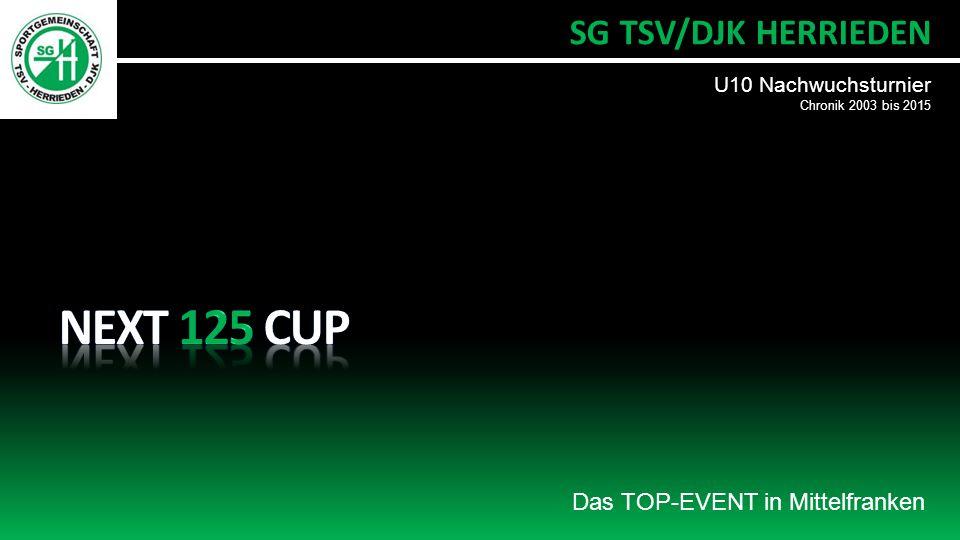Das TOP-EVENT in Mittelfranken U10 Nachwuchsturnier Chronik 2003 bis 2015 SG TSV/DJK HERRIEDEN
