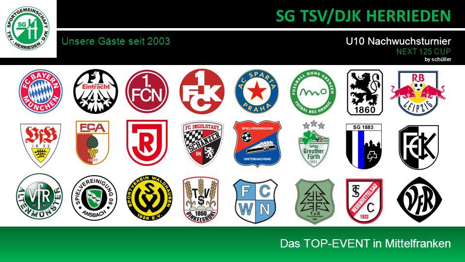 Unsere Gäste seit 2003 Das TOP-EVENT in Mittelfranken SG TSV/DJK HERRIEDEN U10 Nachwuchsturnier NEXT 125 CUP by schüller