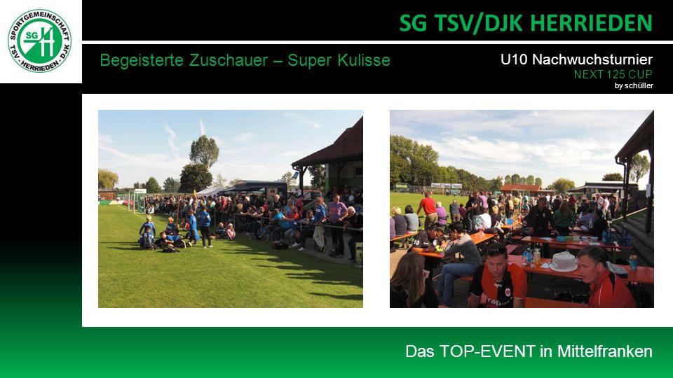 Das TOP-EVENT in Mittelfranken SG TSV/DJK HERRIEDEN Begeisterte Zuschauer – Super Kulisse U10 Nachwuchsturnier NEXT 125 CUP by schüller