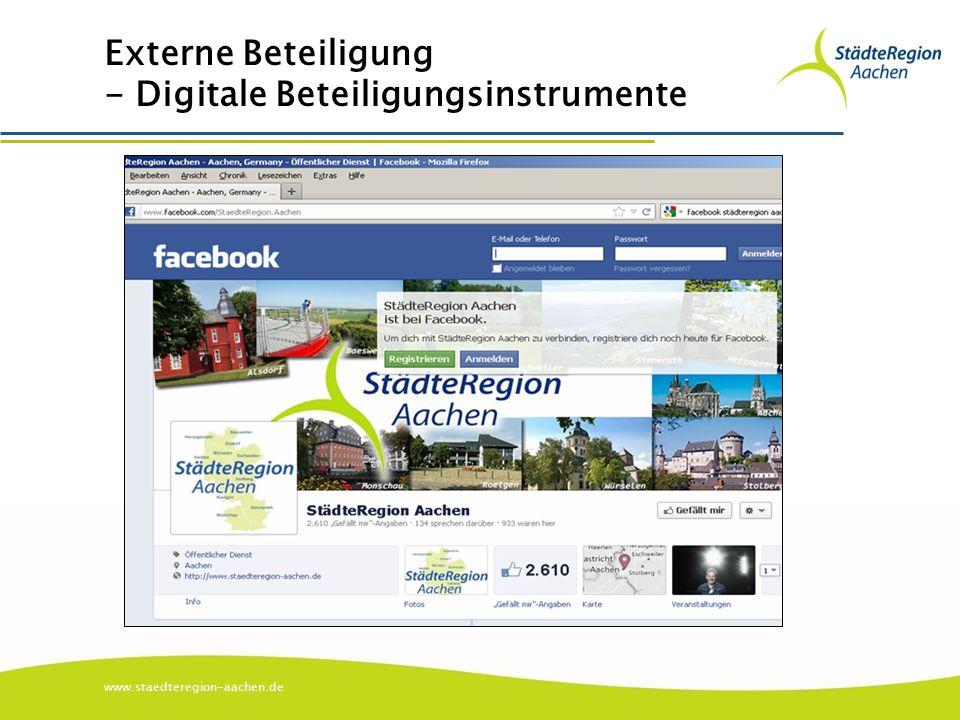 www.staedteregion-aachen.de Externe Beteiligung - Digitale Beteiligungsinstrumente