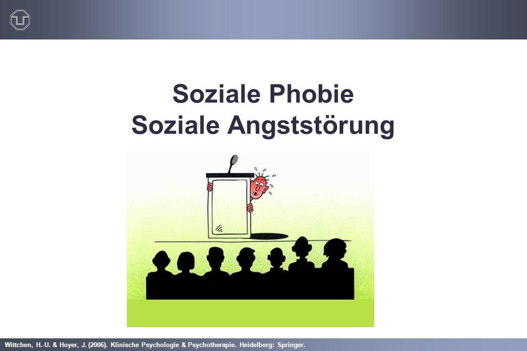 Wittchen, H.-U. & Hoyer, J. (2006). Klinische Psychologie & Psychotherapie. Heidelberg: Springer. Soziale Phobie Soziale Angststörung