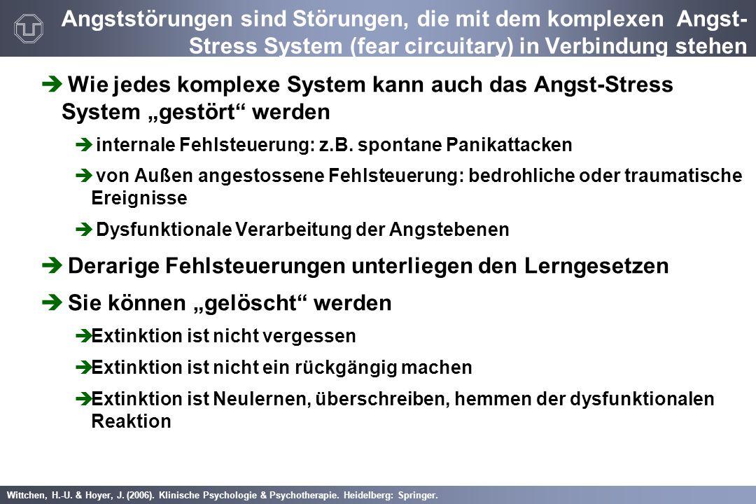 Wittchen, H.-U. & Hoyer, J. (2006). Klinische Psychologie & Psychotherapie. Heidelberg: Springer. Angststörungen sind Störungen, die mit dem komplexen