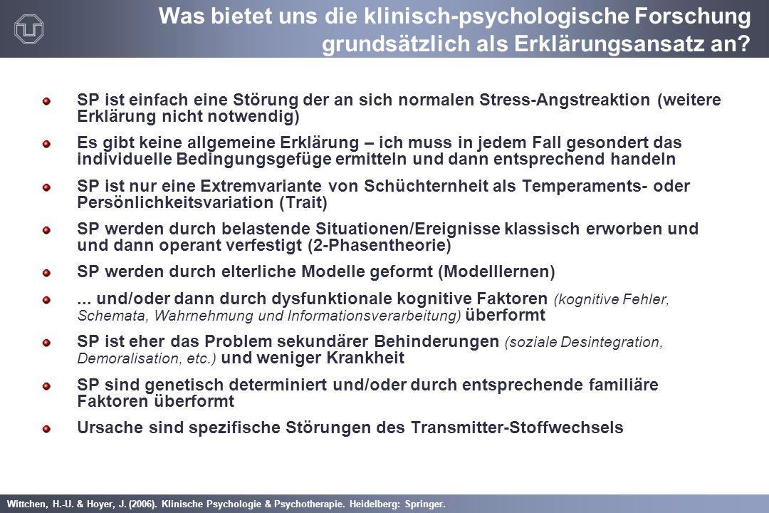 Wittchen, H.-U. & Hoyer, J. (2006). Klinische Psychologie & Psychotherapie. Heidelberg: Springer. SP ist einfach eine Störung der an sich normalen Str