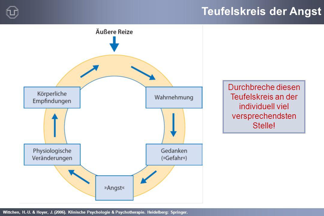 Wittchen, H.-U. & Hoyer, J. (2006). Klinische Psychologie & Psychotherapie. Heidelberg: Springer. Durchbreche diesen Teufelskreis an der individuell v