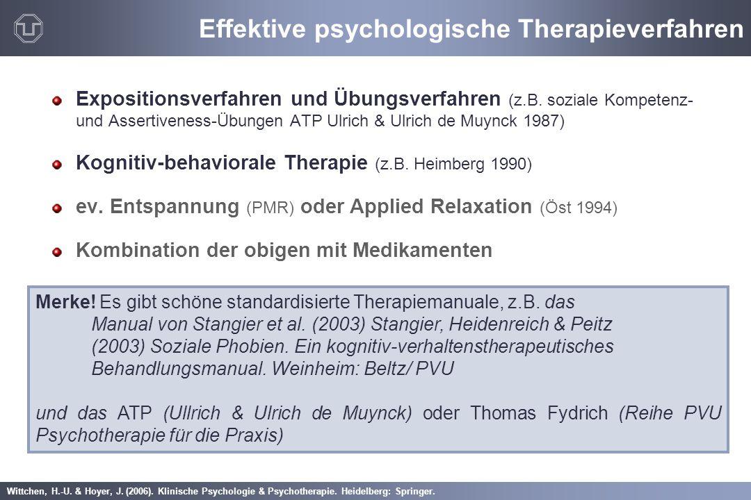 Wittchen, H.-U. & Hoyer, J. (2006). Klinische Psychologie & Psychotherapie. Heidelberg: Springer. Effektive psychologische Therapieverfahren Expositio