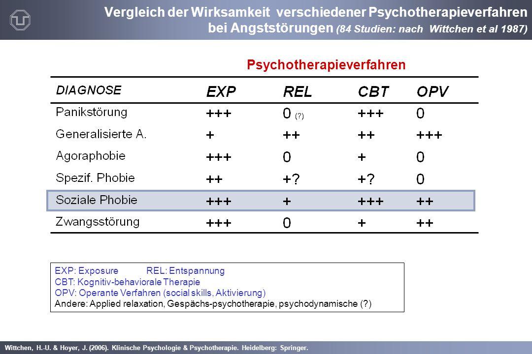 Wittchen, H.-U. & Hoyer, J. (2006). Klinische Psychologie & Psychotherapie. Heidelberg: Springer. Vergleich der Wirksamkeit verschiedener Psychotherap