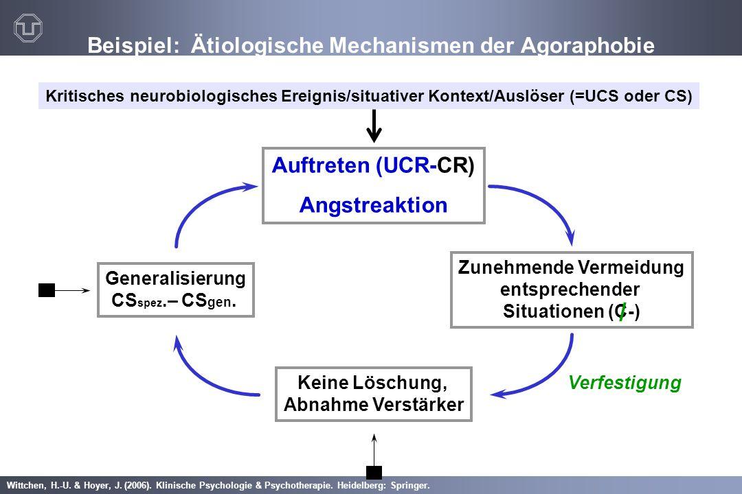 Wittchen, H.-U. & Hoyer, J. (2006). Klinische Psychologie & Psychotherapie. Heidelberg: Springer. Beispiel: Ätiologische Mechanismen der Agoraphobie K