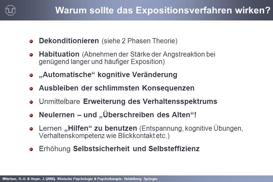Wittchen, H.-U. & Hoyer, J. (2006). Klinische Psychologie & Psychotherapie. Heidelberg: Springer. Dekonditionieren (siehe 2 Phasen Theorie) Habituatio