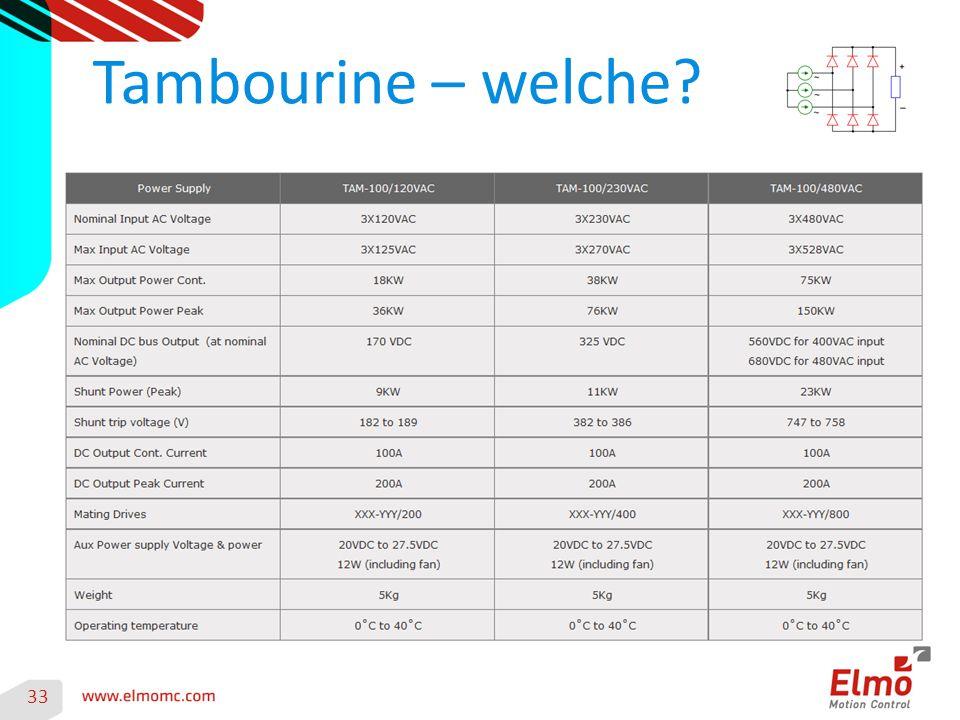 33 Tambourine – welche?