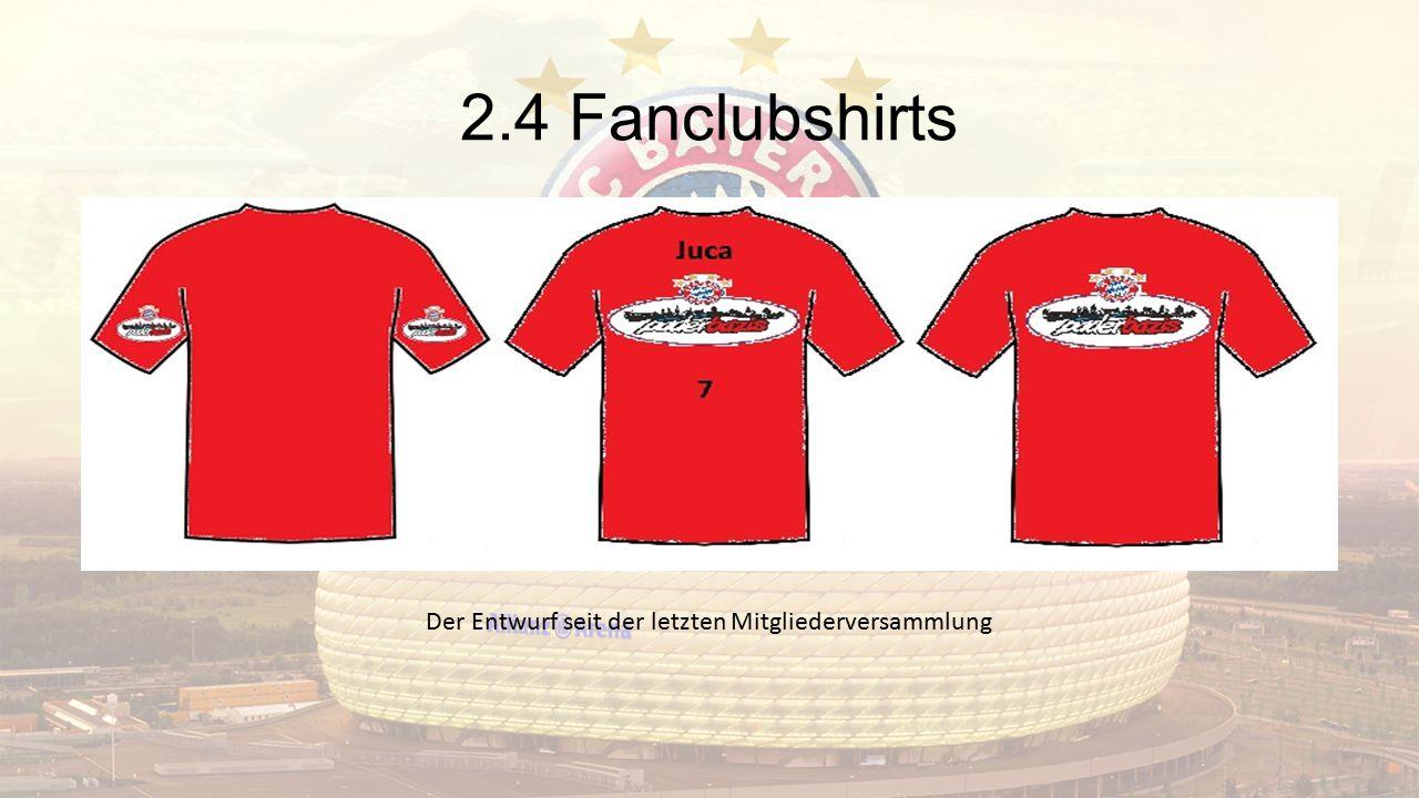 2.4 Fanclubshirts Der Entwurf seit der letzten Mitgliederversammlung