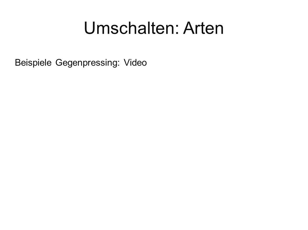 Umschalten: Arten Beispiele Gegenpressing: Video