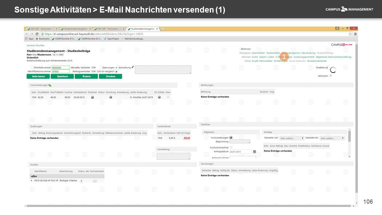 106 Sonstige Aktivitäten > E-Mail Nachrichten versenden (1) 1