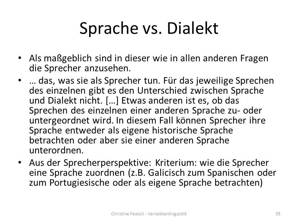 Sprache vs.