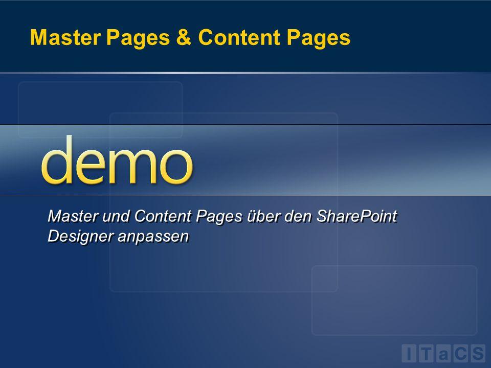 Master und Content Pages über den SharePoint Designer anpassen
