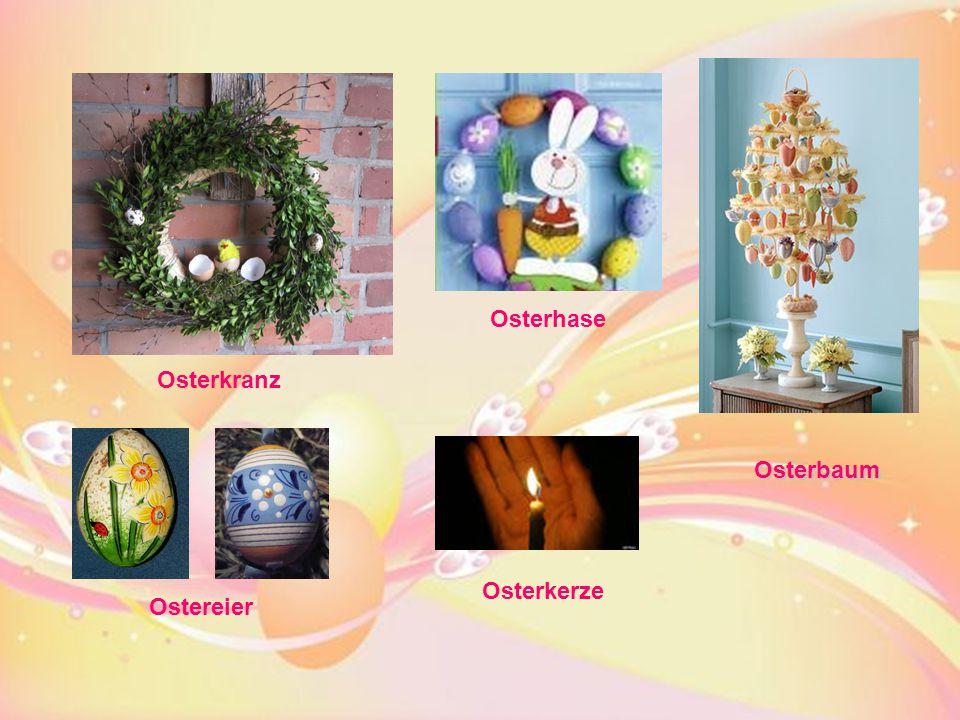 Ostereier Osterbaum Osterkerze Osterhase Osterkranz
