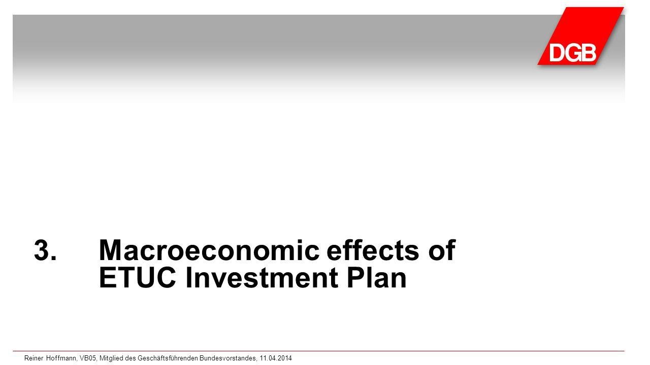 3.Macroeconomic effects of ETUC Investment Plan Reiner Hoffmann, VB05, Mitglied des Geschäftsführenden Bundesvorstandes, 11.04.2014
