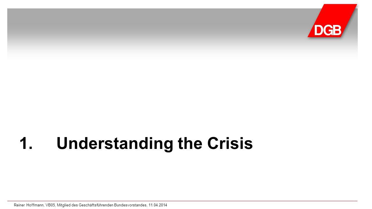 1.Understanding the Crisis Reiner Hoffmann, VB05, Mitglied des Geschäftsführenden Bundesvorstandes, 11.04.2014