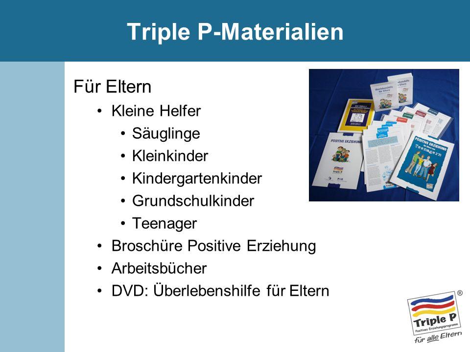 Triple P-Materialien Für Eltern Kleine Helfer Säuglinge Kleinkinder Kindergartenkinder Grundschulkinder Teenager Broschüre Positive Erziehung Arbeitsb