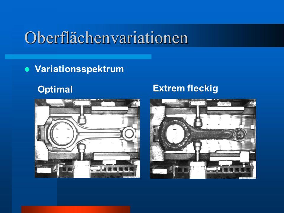 Oberflächenvariationen Variationsspektrum Optimal Extrem fleckig