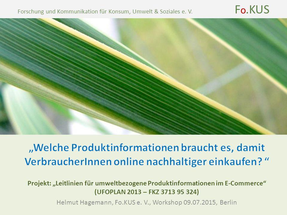 Forschung und Kommunikation für Konsum, Umwelt & Soziales e.