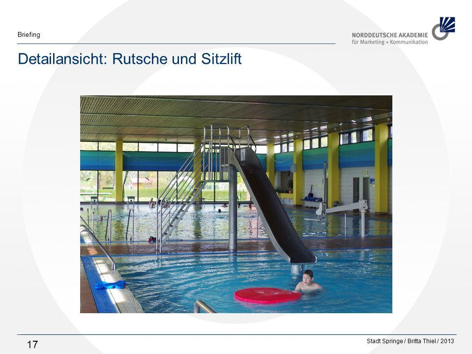 Stadt Springe / Britta Thiel / 2013 Briefing 17 Detailansicht: Rutsche und Sitzlift