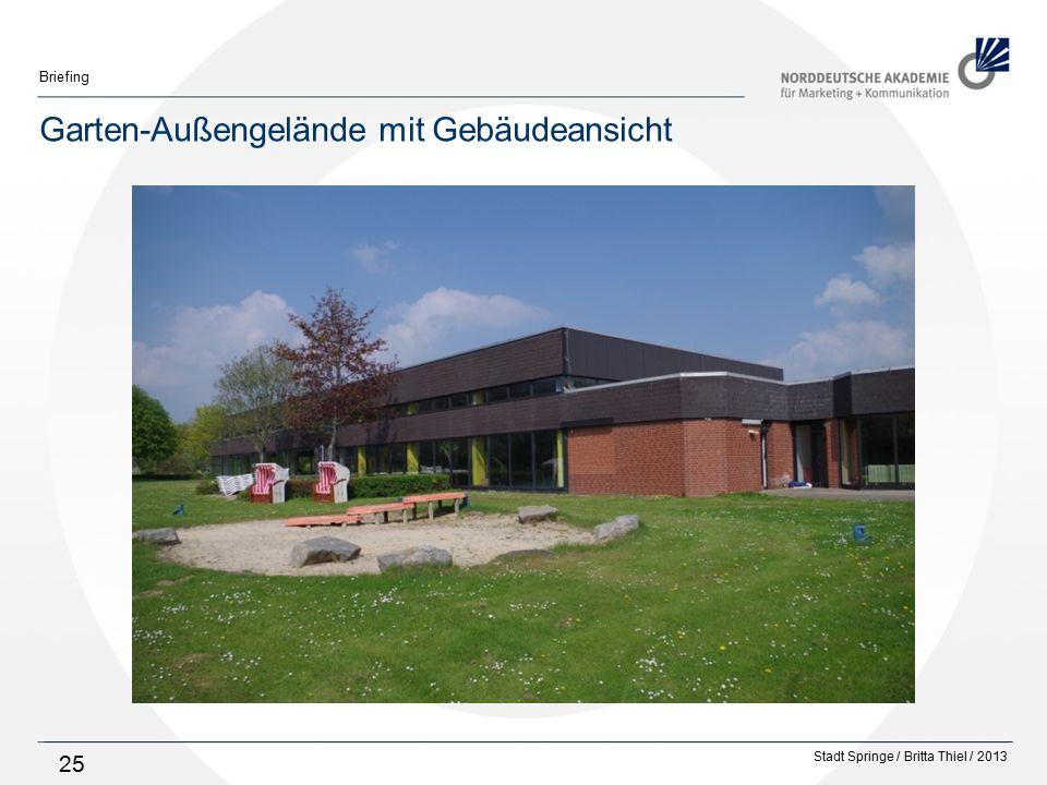 Stadt Springe / Britta Thiel / 2013 Briefing 25 Garten-Außengelände mit Gebäudeansicht
