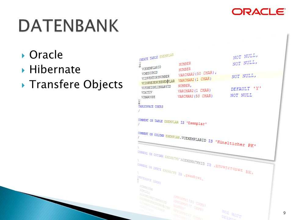  Oracle  Hibernate  Transfere Objects 9