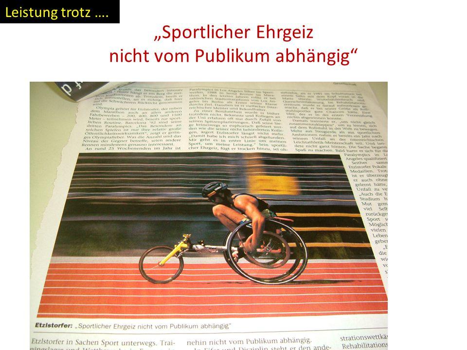 """""""Sportlicher Ehrgeiz nicht vom Publikum abhängig"""" Leistung trotz …."""